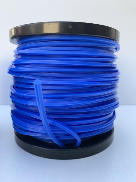 Mähfaden 2,4mm / 180m Vierkant blau