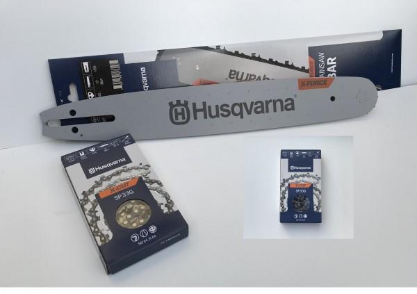 """Sparpaket - 38 cm Husqvarna .325"""" - 1,3 mm x force + 2x Sägekette x cut"""